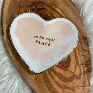 Kate Spade Posy Court Trinket Dish Heart idiom